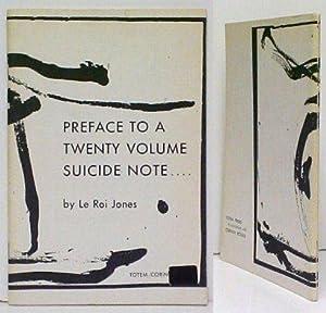 Preface to a Twenty Volume Suicide Note.: JONES, LeRoiBARAKA, Amiri