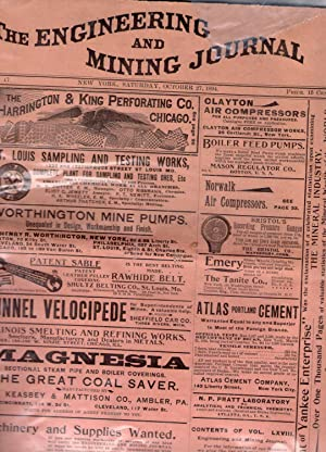 THE ENGINEERING AND MINING JOURNAL. Issue of October 27, 1894