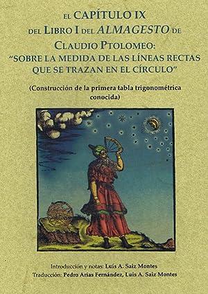 """ALMAGESTO: capítulo IX del Libro I """"Sobre: PTOLOMEO, Claudio"""