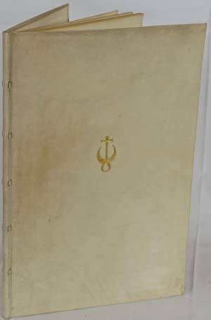 Marienbader Elegie. Montagnola, Officina Bodoni 1923. 4to.: Goethe, J. W.