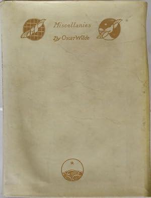 Miscellanies. London, Methuen (1908). 4to. XVI,343 Seiten.: Wilde, Oscar.