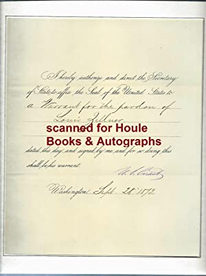 Document Signed: Grant, Ulysses S.
