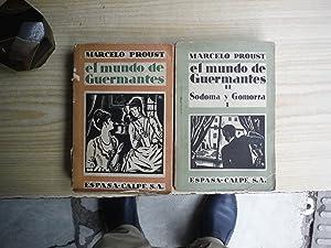 EL MUNDO DE GUERMANTES. SODOMA Y GOMORRA: PROUST, Marcel
