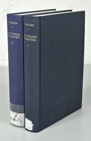 POLITISCHE SCHRIFTEN IN AUSWAHL. Eingeleitet und kommentiert von Adolf Rohr. 2 Bände (vollständig)....
