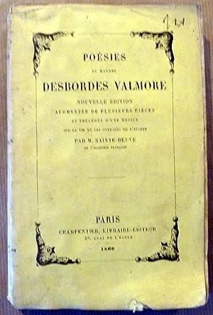 Poésies de Madame Desbordes Valmore. Nouvelle Edition augmentée de plusieurs pièces et précédée d&...