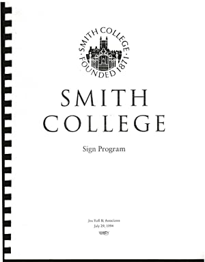 Smith College Sign Program. : Jon Roll & Associates.