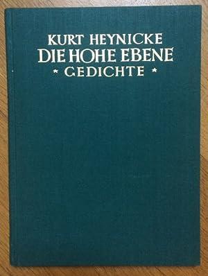 Die hohe Ebene. Gedichte.: Heynicke, Kurt.