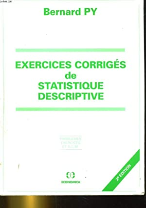 exercices corriges statistique descriptive - AbeBooks