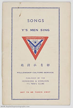 Pleasing Booklet 'Songs Y's Men Sing',