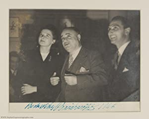 Cheerful Signed Press Photograph, (Beniamino, 1890-1957, Italian Tenor)