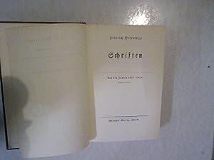 Heinrich Pestalozzi. Schriften aus den Jahren 1805 - 1826 Teil 2. Werke in acht Bänden.: ...
