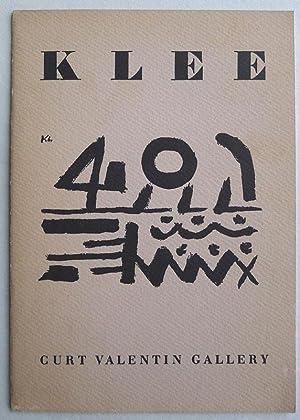 Paul Klee. Curt Valentin Gallery, New York,: KLEE, PAUL.