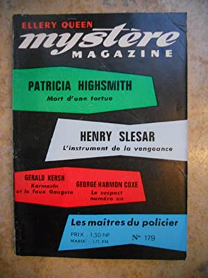 Ellery Queen - Mystere magazine - n°179: Patricia Highsmith /