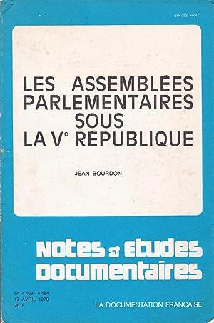 Les assemblées parlementaires sous la Ve république: Bourdon, Jean