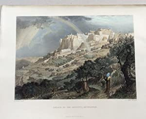 BETHLEHEM - CHURCH OF THE NATIVITY - Original Engraving