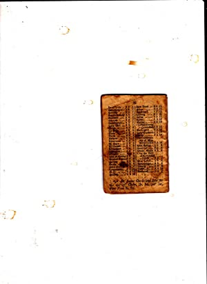 Wright's Book of Handicaps 1854. Booklet with Contents for September 1854
