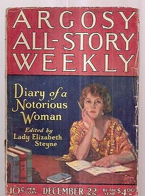 ARGOSY ALL-STORY WEEKLY DECEMBER 22, 1923 VOLUME: Argosy All-Story Weekly)