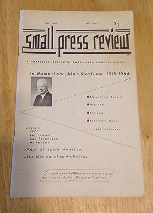 Small Press Review Quarterly Vol. 1 No.: Len Fulton (editor)