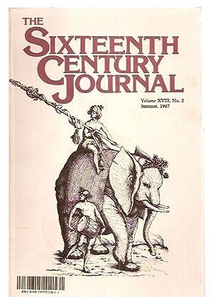 THE SIXTEENTH CENTURY JOURNAL VOLUME XVIII, NUMBER: The Sixteenth Century