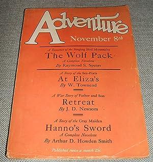 Adventure Magazine for November 8th: Edited by Arthur
