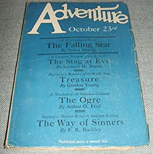 Adventure Magazine for October 23rd 1926: Edited by Arthur
