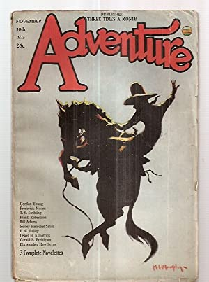 Adventure Magazine for November 30th 1923: Edited by Arthur