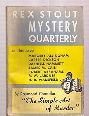 """REX STOUT MYSTERY MAGAZINE ISSUE NUMBER 2: Stout, Rex (""""editor-in-chief"""""""