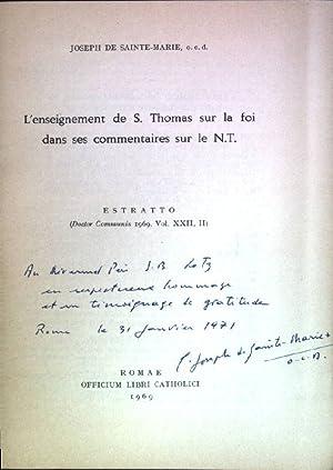 L'enseignement de S. Thomas sur la foi dans ses commantaires sur le N.T. Einbandkanten leicht ...