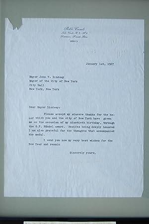 Letter - Pablo Casals: Casals, Pablo