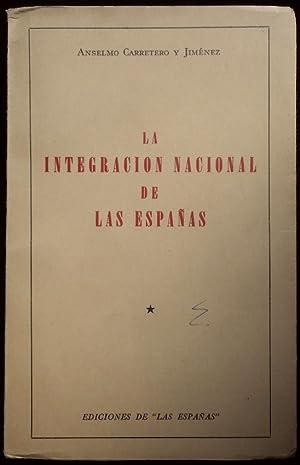 La integración nacional de las Españas: Carretero y Jiménez, Anselmo