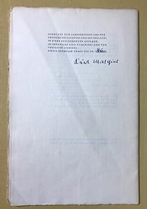Der Nächtliche. Gedichte.: Matthies, Kurt.