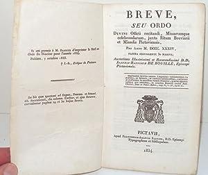 Breve Seu Ordo. Divini Offici recitandi, Missarumque: DE BOUILLE, Joannis-Baptistae