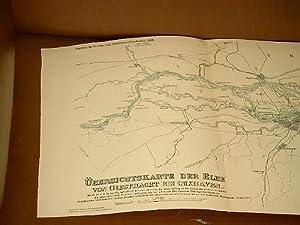 Übersichtskarte der Elbe von Geesthacht bis Cuxhaven. Unter Benutzung der preussischen ...