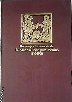 """Homenaje a la memoria de Don ANTONIO RODRIGUEZ MOÑINO 1910-1970. Camilo José Cela: """"Carta que ..."""