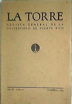 TORRE, La.- Revista General de la Universidad de Puerto Rico. 17 números en 15 tomos( 5, 8, 12, 13,...