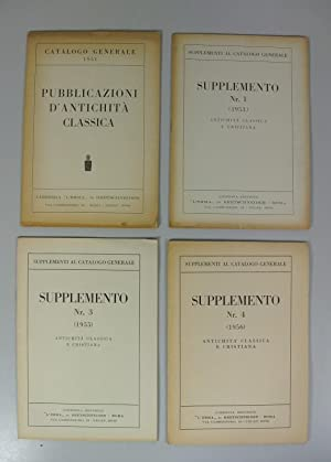 Pubblicazioni d' Antichita classica. (Catalogo Generale 1951). + Supplemento Nr. 1 (1953), Nr. ...