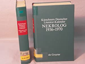 1901 - 1935 + 1936 - 1970 in 2 Bänden. Hrsg. von Gerhard Lüdtke + Werner Schuder.: KÜRSCHNERS ...
