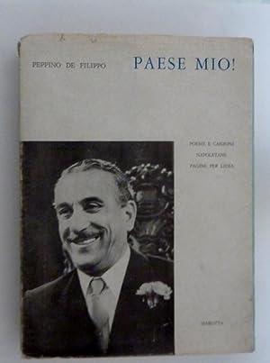 PAESE MIO! Poesie e Canzoni Napoletane e: Peppino De Filippo