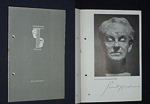Programmheft 14 Volksbühne Berlin 1956. DIE RATTEN: Herausgeber: Die Intendanz