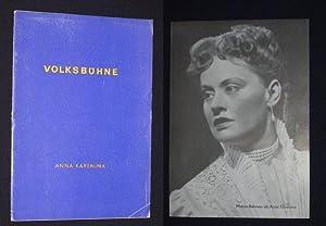 Programmheft Volksbühne Berlin 1954/55. ANNA KARENINA nach: Herausgeber: Die Intendanz,