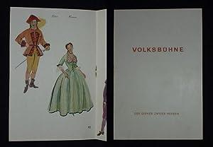 Programmheft 10 Volksbühne Berlin 1955/56. DER DIENER: Herausgeber: Der Intendant,