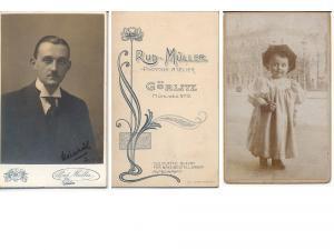 CDV Carte de Visite Foto Porträt Junger: Müller, Rudolf Photographisches
