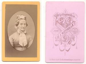 CDV Carte de Visite Foto Alte Frau: Wittmaak, H.J. Photographie