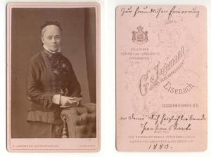 CDV Carte de Visite Foto Stehende Frau: Jagemann, G. Großhzgl.