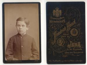 CDV Carte de Visite Foto Porträt Knabe: Haack, Friedrich Großherzogl.
