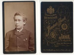 CDV Carte de Visite Foto Porträt Junger: Haack, Friedrich Großherzogl.
