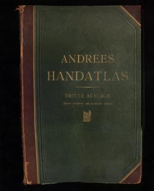 Andrees Allgemeiner Handatlas in 99 Haupt- und 82 Nebenkarten nebst vollständigem alphabetischem ...