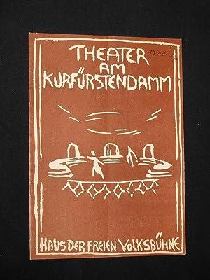 Programmheft Theater am Kurfürstendamm 1956/57. MIRANDOLINA von: Herausgegeben von der