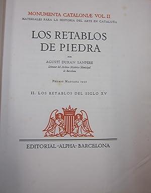 Los Retablos de Piedra 2 tomos: DURAN SANPERE, AGUSTI