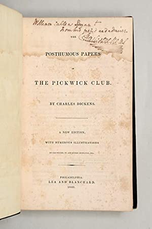 The Posthumous Papers of the Pickwick Club.: DICKENS, Charles.